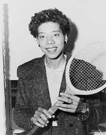 Breaker of the gender and ethnicity boundaries in tennis, Althea Gibson